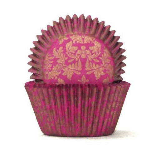 408 Cupcake Papers - High Tea Pink/Gold (100 approx)