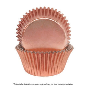 408 Cupcake Papers - Rose Gold Foil (pack of 72)