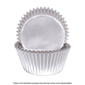 408 Cupcake Papers - Silver Foil (pack of 72)