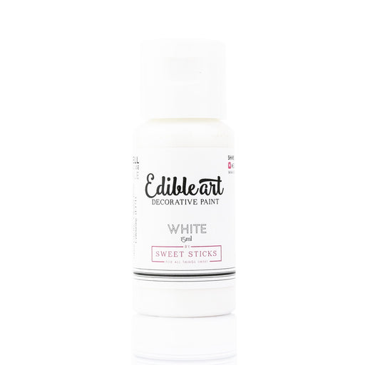 Sweet Sticks Edible Paint - White - 15ml