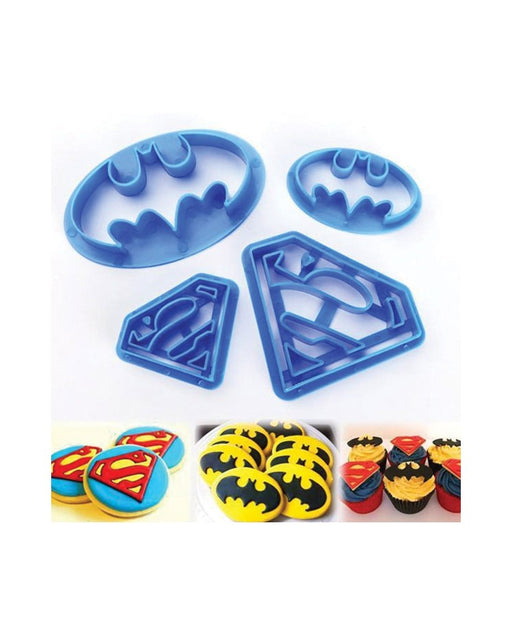 Cookie Cutters - Batman and Superman (Set of 4)
