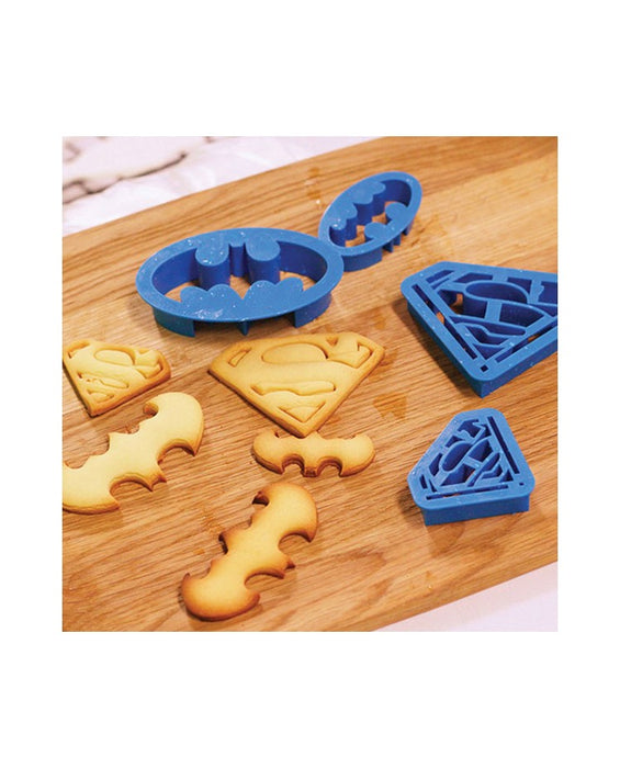 Cookie Cutters - Batman and Superman Superhero (Set of 4)