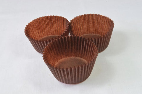 Mini Cupcake Papers - Brown (60)