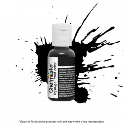 Chefmaster Liqua-Gel - Black Diamond - 20gm