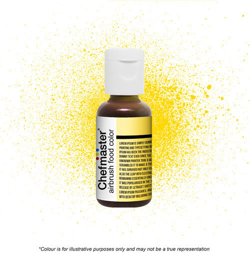 Chefmaster Airbrush Colour - Canary Yellow - 18gm