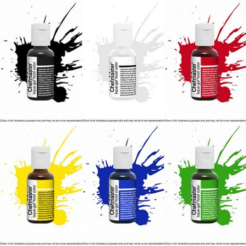Chefmaster Liqua-Gel Food Colour - Top Sellers (Set of 6)