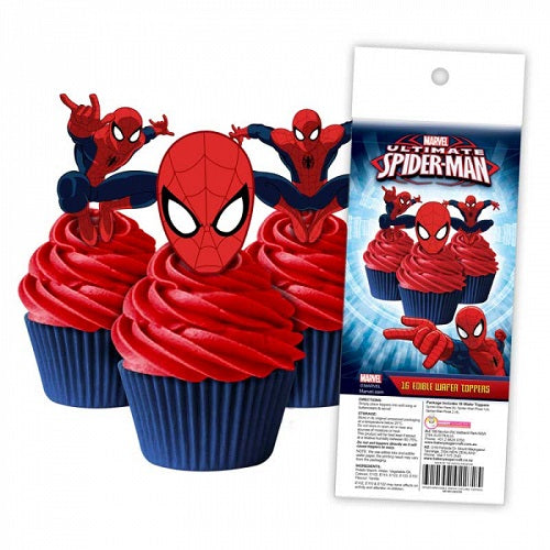 Wafer Cupcake Toppers - Spiderman (16)