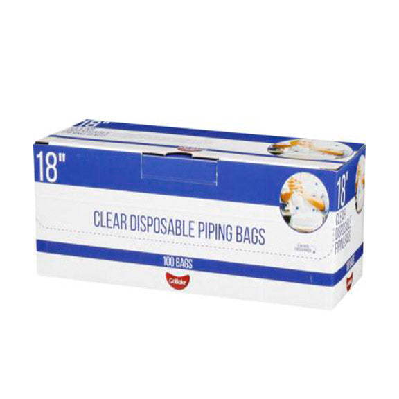Disposable Piping Bags - 18 inch Box of 100 on roll (Go Bake)