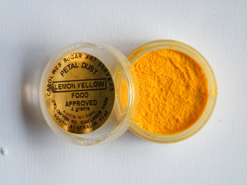Carolines Petal Dust - Lemon Yellow - 4gm