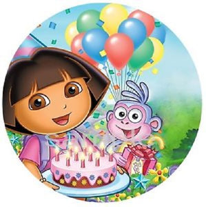 Round Edible Image - Dora the Explorer (16cm)