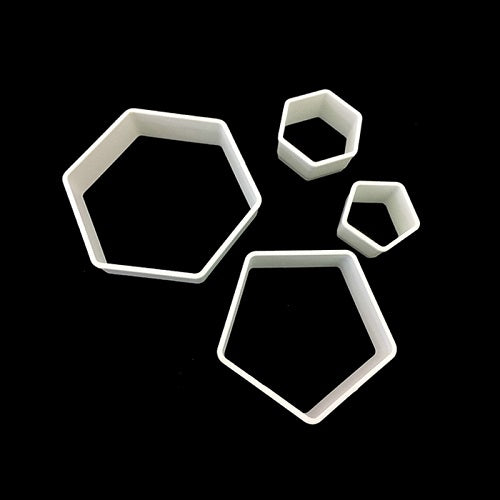 Cutters - Hexagon & Pentagon (set of 4)