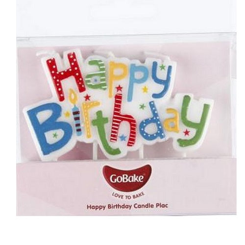 GoBake Candle - Happy Birthday - Rainbow