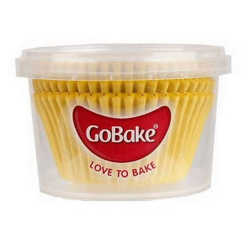 GoBake Baking Cups - Yellow (pack of 72)