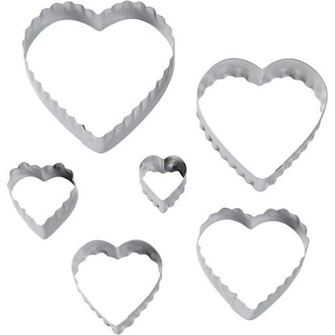 Wilton Double Cut-Outs Set - Heart (set of 6)