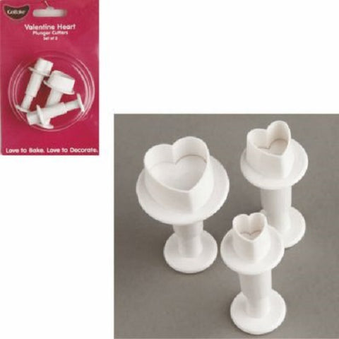 Mini Plunger Cutters - Heart (set of 3)