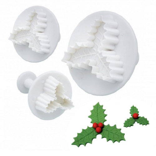 Plunger Cutters - Holly 3 Leaf (set of 3)
