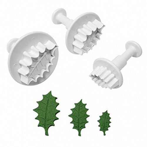 Plunger Cutters - Holly Leaf (set of 3)