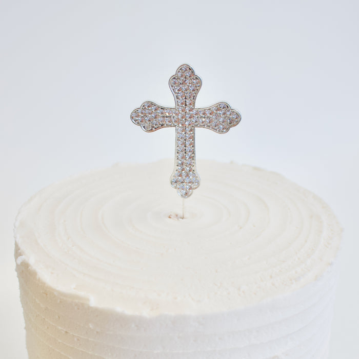 Cake Topper - Cross (Diamante)