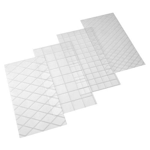 Quilt and Square Pattern Impression Mats (set of 4)