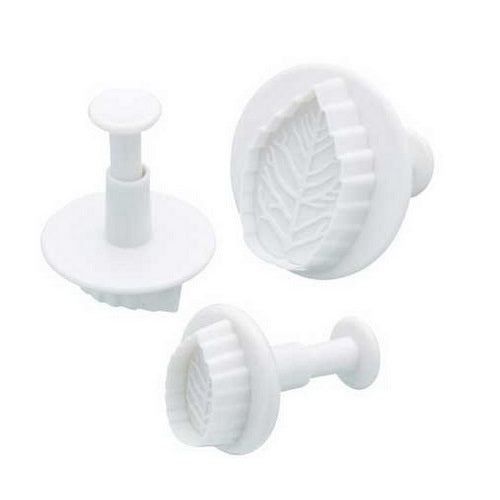 Plunger Cutters - Rose Leaf (set of 3)