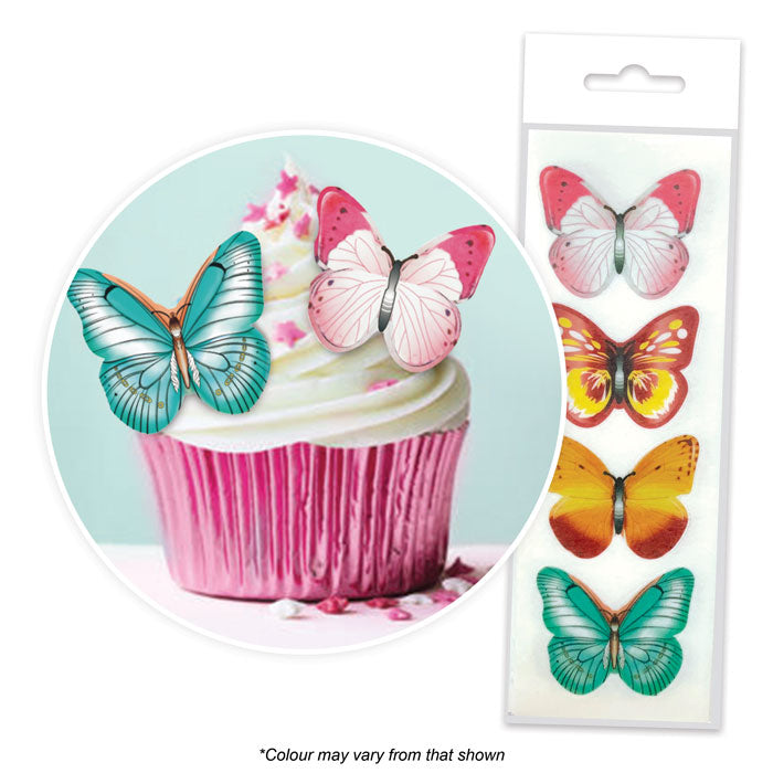 Edible Wafer Toppers - Butterflies Mixed (pack of 16)