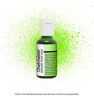 Chefmaster Airbrush Colour - Neon Bright Green - 18gm