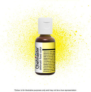Chefmaster Airbrush Colour - Neon Bright Yellow - 18gm
