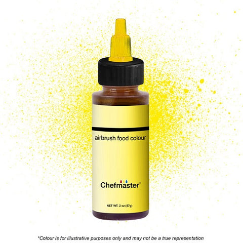 Chefmaster Airbrush Colour - Neon Bright Yellow - 57gm