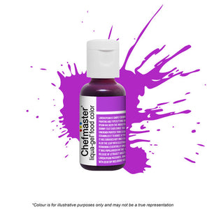 Chefmaster Liqua-Gel - Neon Bright Purple - 20gm