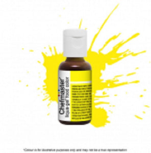 Chefmaster Liqua-Gel - Neon Bright Yellow - 20gm