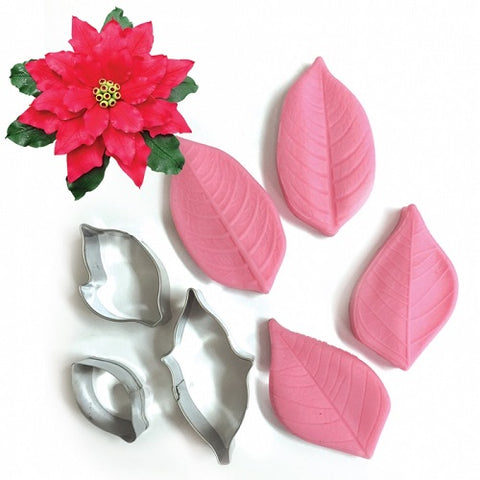 Cutter and Veiner Set - Poinsettia