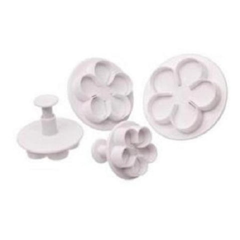 Plunger Cutters - Rose (set of 4)