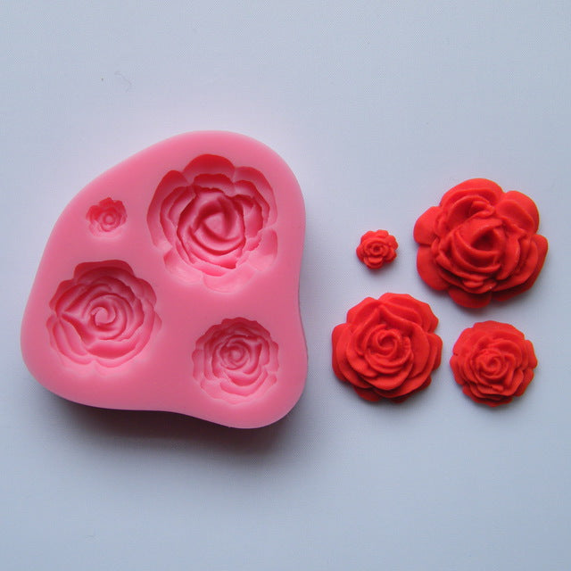 Silicone Mould - Roses (4)