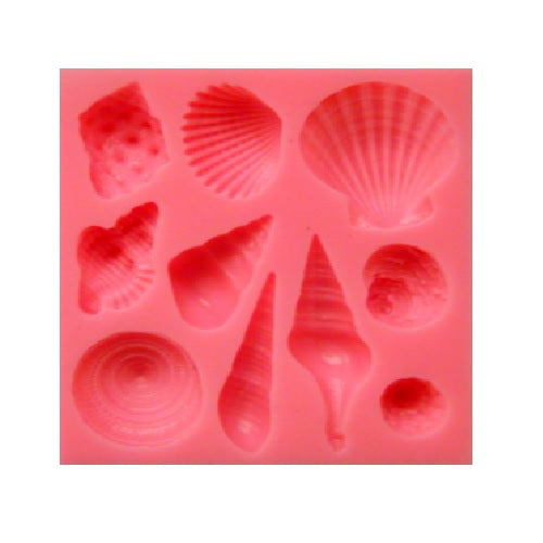 Silicone Mould - Shells (10)