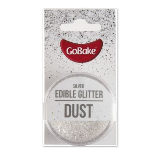GoBake Edible Glitter Dust - Silver - 2gm