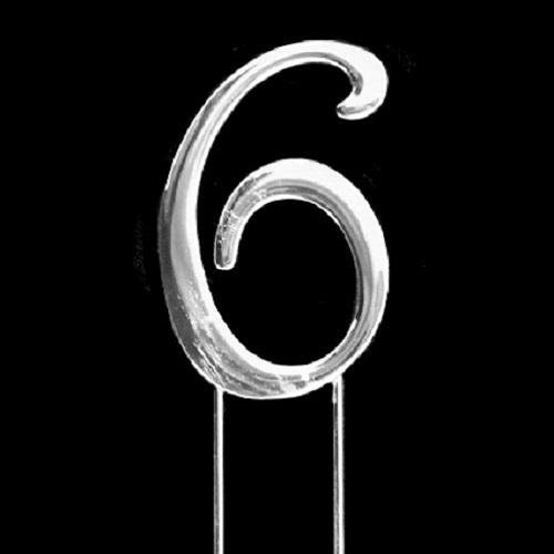 Cake Toppers - Silver Numbers - 7cm