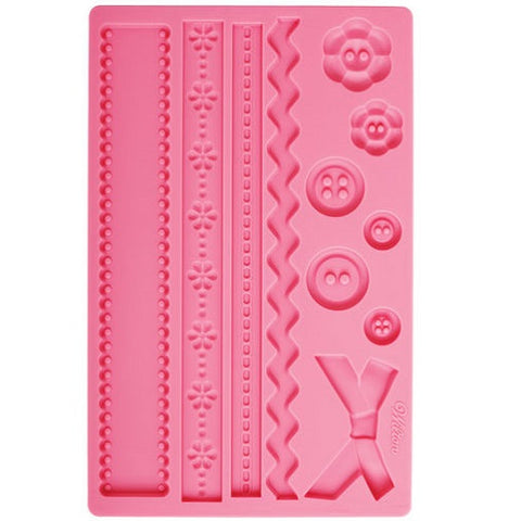 Wilton Fabric and Buttons - Silicone Mould Hire