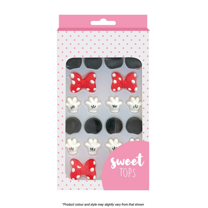 Sweet Tops | Mickey / Minnie Mouse Decorating Set | Icing Decorations | 4 Sets