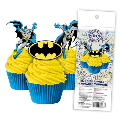 Wafer Cupcake Toppers - Batman (16)