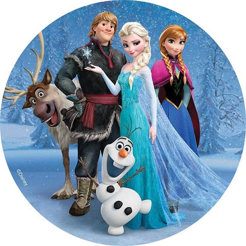 Round Edible Image - Frozen - Group (16cm)