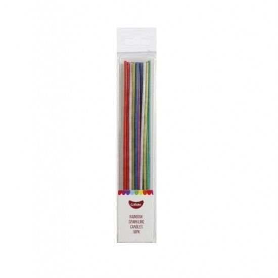 GoBake Candles - Sparkling Rainbow - 12cm (Pack of 12)