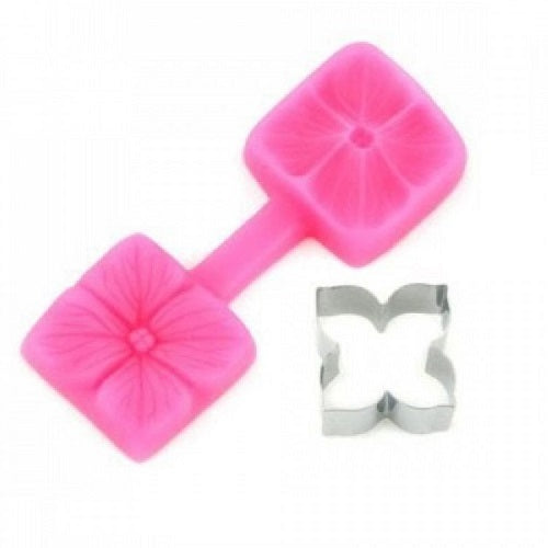 Silicone Mould and Cutter Set - Hydrangea