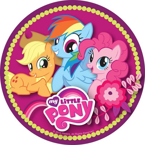 Round Edible Image - My Little Pony (16cm)