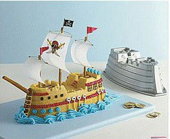 HIRE - Pirate Ship Nordic Cake Tin