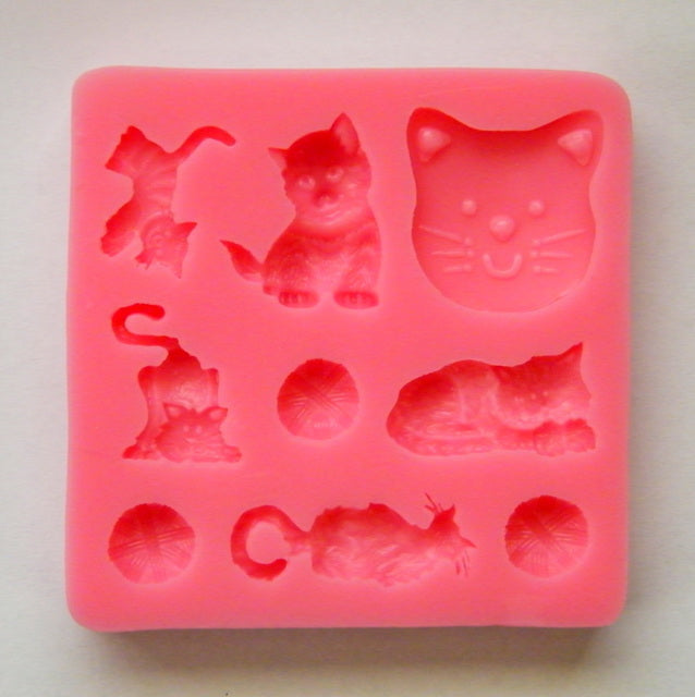 Silicone Mould - Cats & Wool