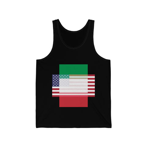 Italy + United States = Positive Identity - Tank Top