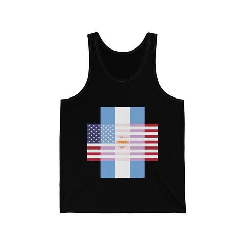 Argentina + United States = Positive Identity - Tank Top