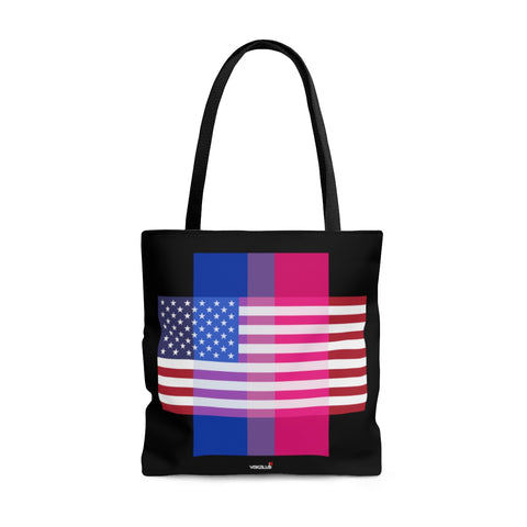 Bisexual Pride + United States = Positive Identity - Tote Bag