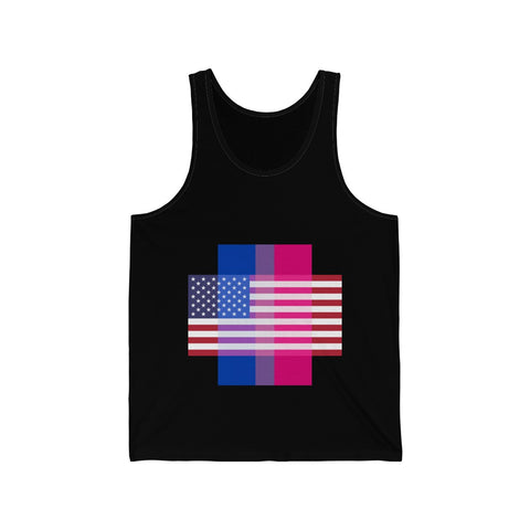 Bisexual Pride + United States - Positive Identity - Tank Top