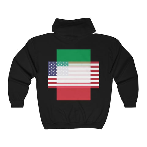 Italy + United States - Positive Identity - Zip Hoodie